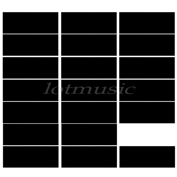20pcs Black Adhesive Acoustic Pickguard Material Scratch Plate 18*46cm Soft Seft Design sg standard full face guitar pickguard scratch plate zebra stripe with screws
