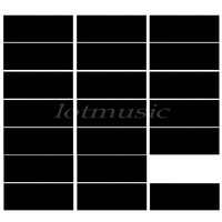 20pcs Black Adhesive Acoustic Pickguard Material Scratch Plate 18*46cm Soft Seft Design