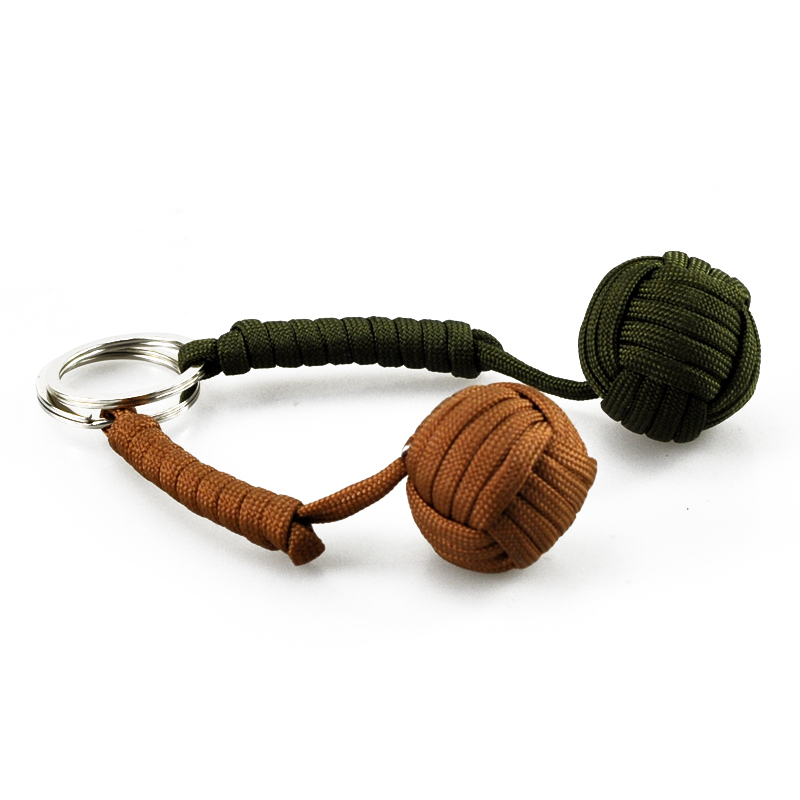 FGHGF Key Chain Security Protection Monkey Fist Steel Ball Bearing Self Defense Lanyard Survival