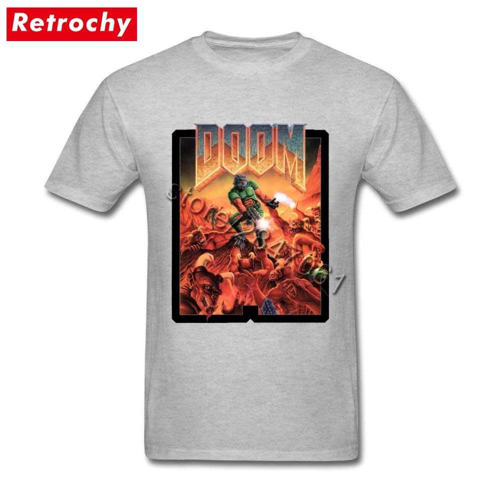 Красивая футболка doom Мужская видеоигра Футболка Мужская s известный бренд дизайн с коротким рукавом Нежная мужская футболка Прямая доставка