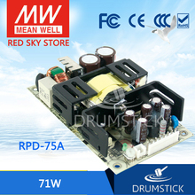 Selling Hot! MEAN WELL original RPD-75A meanwell RPD-75 71W Dual Output Medical Type Switching Power Supply hot selling mean well pd 110b meanwell pd 110 109w dual output switching power supply