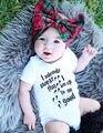 0-18 М летние буквы ползунки Новорожденного Ребенка Мальчики Девочки Хлопок Ползунки Комбинезон Наряды Set Одежда
