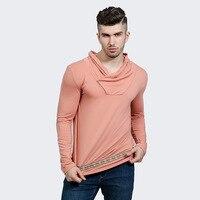 Футболка Для мужчин с длинным рукавом Мода Новый 2017 водолазка Для мужчин Slim Fit Дизайн Рубашки для мальчиков брендовая одежда для Для мужчин ...