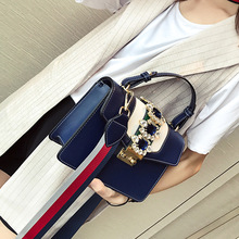 купить Female Crossbody Tote Bag Women 2019 Quality PU Leather Luxury Handbag Designer Sac A Main Ladies Diamond Shoulder Messenger Bag по цене 1210.79 рублей