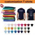 Mini wholesale!50%-60% off shipping cost!custom T shirt printing,custom logo shirts,print your logo,100% Cotton,25colors,US size