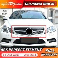 W207 diamond Grill C207 front Grille For Mercedes Benz E Coupe w207 Facelift Front Bumper Sport 2009 2013 E200 bumper grille