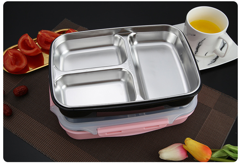 cheap bento boxes TUUTH Stainless Steel Lunch Box Large-capacity Microwave Heating Portable Dinne Food Containers For Picnic Office School B13