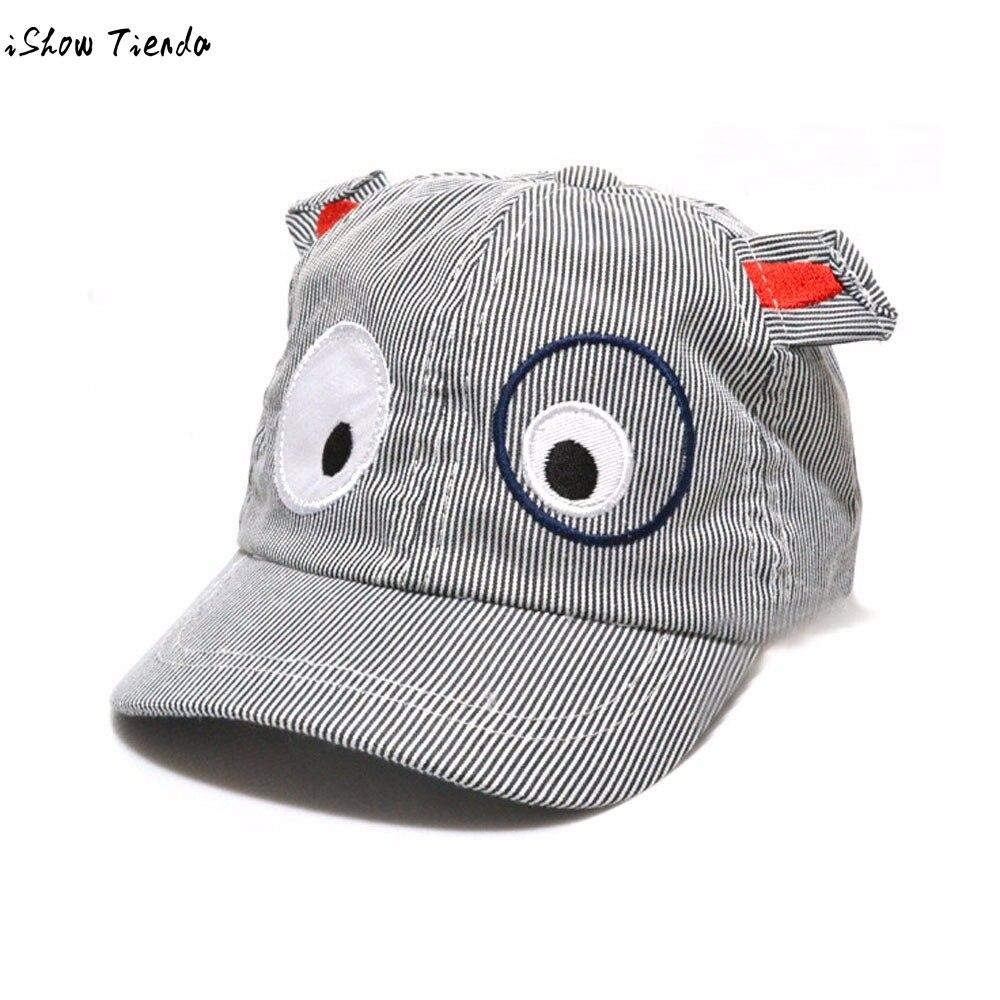 0b727502da5 Baby Boy Hat Cartoon Dog Pattern Kids Boys Cute Baby Baseball Cap Snapback  Striped Capacete Infantil