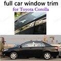 Для T-oyota Corolla полное окно отделка автомобиля внешние аксессуары из нержавеющей стали декоративные полосы с колонкой