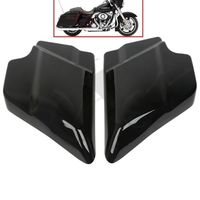 ABS Side Cover Panel For Harley Davidson Touring Street Glide 09 18 Vivid Black Left Right Side Touring FLT FLH 2009 2018