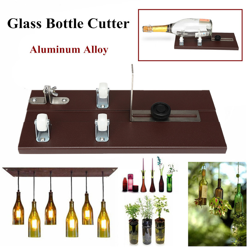 Glass Bottle Cutter Cutting Thickness 3-10mm Aluminum Alloy Better Cutting Control Create Glass Sculptures Sun Catchers Sturdier elegant cocktail glass shaped aluminum alloy diy biscuit cookie cutter mould silver