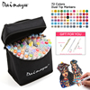 Dainayw 72 Colors Dual Tip Art Sketch Markers Set Permanent Artist Colorless Blender Copic Markers For