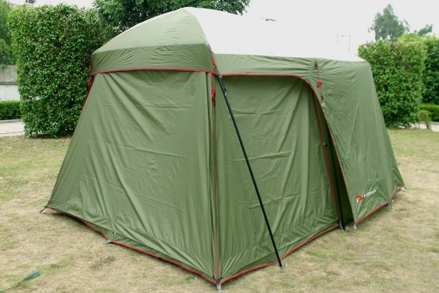 2017 Hot sale 5-8 person big family beach outdoor camping tent anti/proof storm/rain UV 1 bedroom 1 living room for sale/on sale