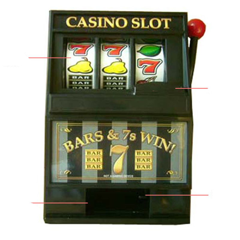 Machine à sous tirelire Machine à fruits tirelire banque de pièces Casino Jackpot Las Vegas jeux de table Machine à sous liqueur Bar cadeaux