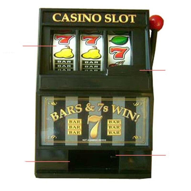 Slot Machine Piggy Bank Fruit Machine Money Box Coin Bank Casino Jackpot Las Vegas Games Tabletop Slot Machine Liquor Bar Gifts