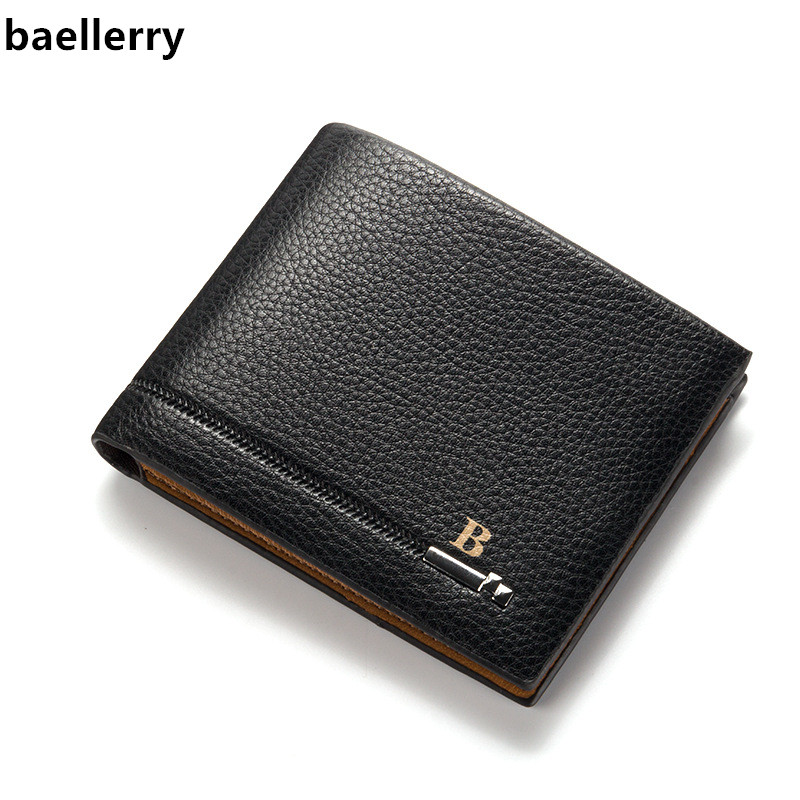Baellerry Luxury Brand Wallet Men Pu Leather Purse Male Leather Short Wallet Casual Men's Wallet Carteira Masculina Wholesale