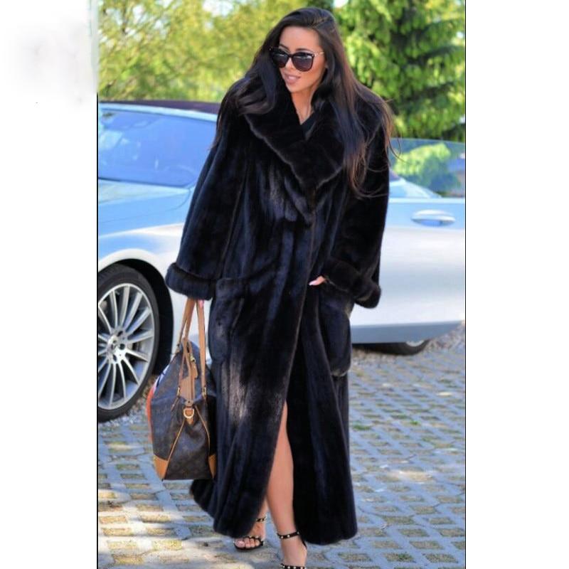 BFFUR New Real Fur Winter Jacket Women Turn-down Collar Short Thick Warm Winter Women Mink Coat Real Natural Fur Coats 2018