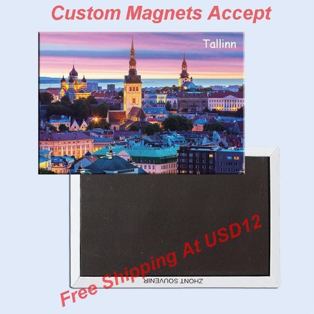 Décoration cadeau Photo aimants Tallinn touriste Souvenir aimant 20306; Vente en gros personnalisé accepter