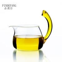 PINDEFANG Tail Up 400ml Heat-resistant Glass Fair Mug Serving Cup Sharing pot Tea Water Pitcher Kungfu teaware wholesale