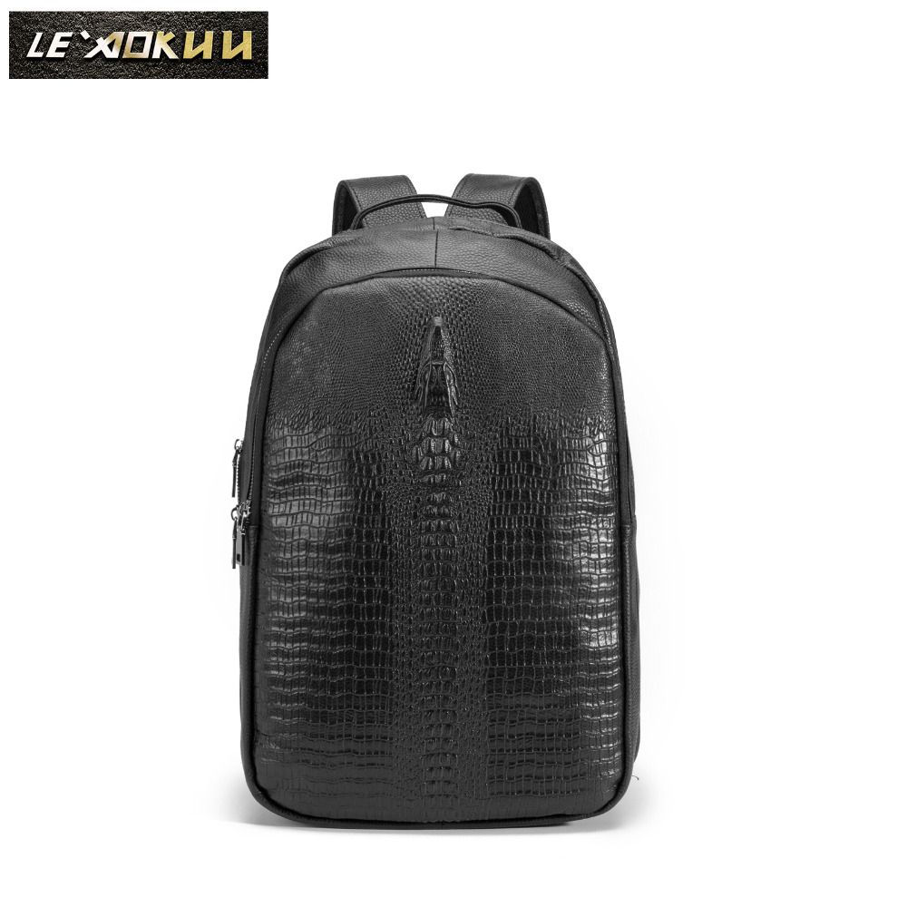 Design Male Original Leather Casual Fashion Large Capacity Travel School College 17 Laptop Student Bag Backpack Daypack BB334Design Male Original Leather Casual Fashion Large Capacity Travel School College 17 Laptop Student Bag Backpack Daypack BB334