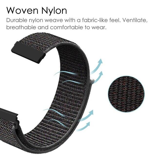 XShum 22mm 20mm Nylon Band For Xiaomi Amazfit Bip Pace Strap Wrist Nylon Loop Velcro Strap Smart Watch Accessories Bracelet 2