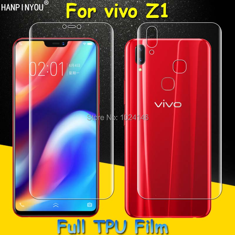 Front / Back Full Coverage Clear Soft TPU Film Screen Protector For vivo Z1 6.26 , Cover Curved Parts (Not Tempered Glass)