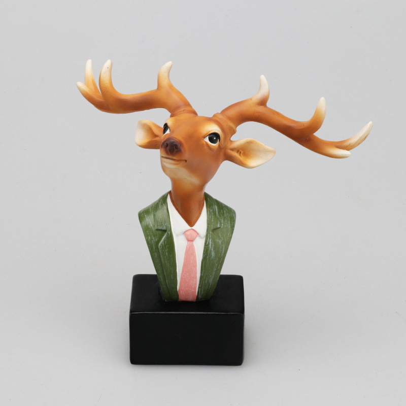 Glasses Frames Figurines Crafts Living Room Office Display Ornaments Deer Rabbit Bedside Cabinet Decorative Resin Glasses Stand