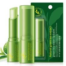 1 Pc Verde Tè Naturale Idratante Fresco Nutriente Trucco Labbra Rossetto Cura di Protezione Scolorire Balsamo per le Labbra Lip Migliorare TSLM2