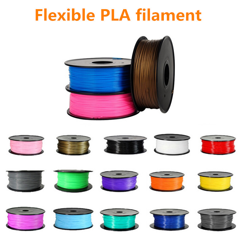 Impresora 3D Filamento PLA multi Color 1.75mm TPE Flexible TPU de Goma 0.8 kg/Sp