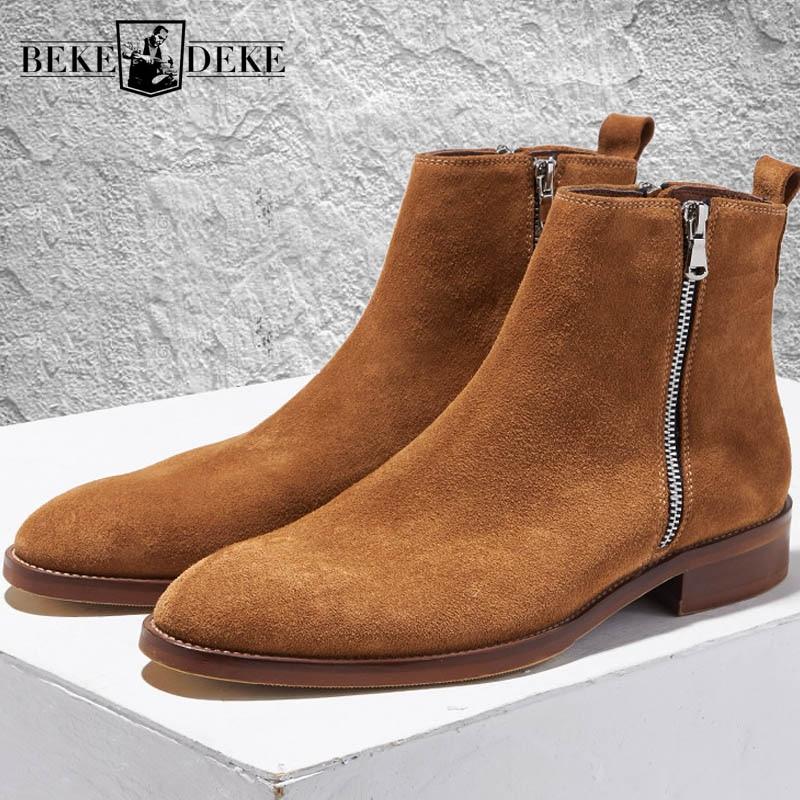 Winter Vintage Men Chelsea Boots High