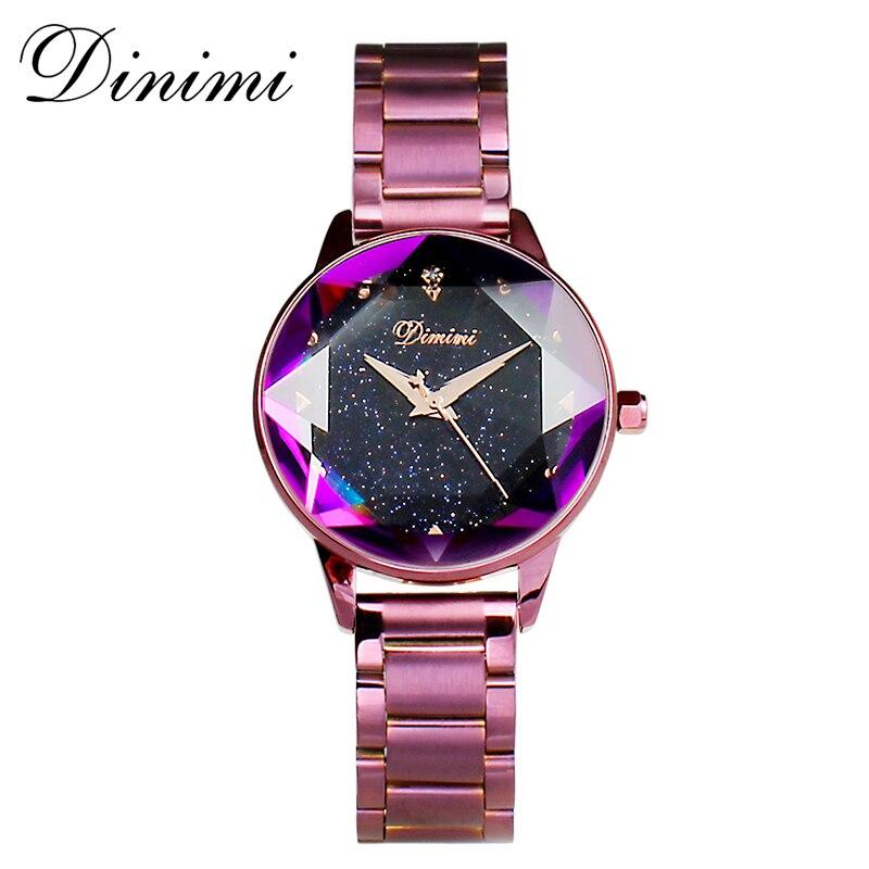 Dimini mode de luxe femmes montres dame montre or Quartz montre-bracelet en acier inoxydable dames montres cadeaux présent Dropshippin - 3