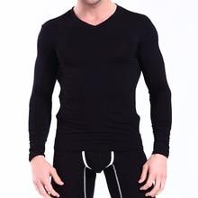 New Mens Long Johns Soft Modal Thermal Underwear Sets Winter Legging Men Warm Sexy V-Neck Long John For Men