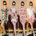 2017 Summer All-match Maternity Dress Printing Plus Size Summer Clothes for Pregnant Women