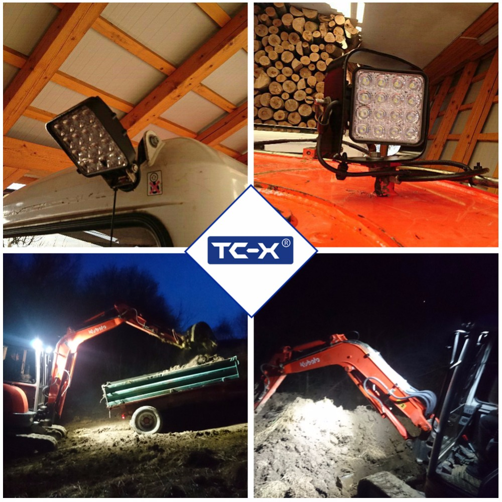 TC-X LED 48W İş İşıq Meydanı LED Daşqın İşıq Bar 4x4 - Avtomobil işıqları - Fotoqrafiya 5