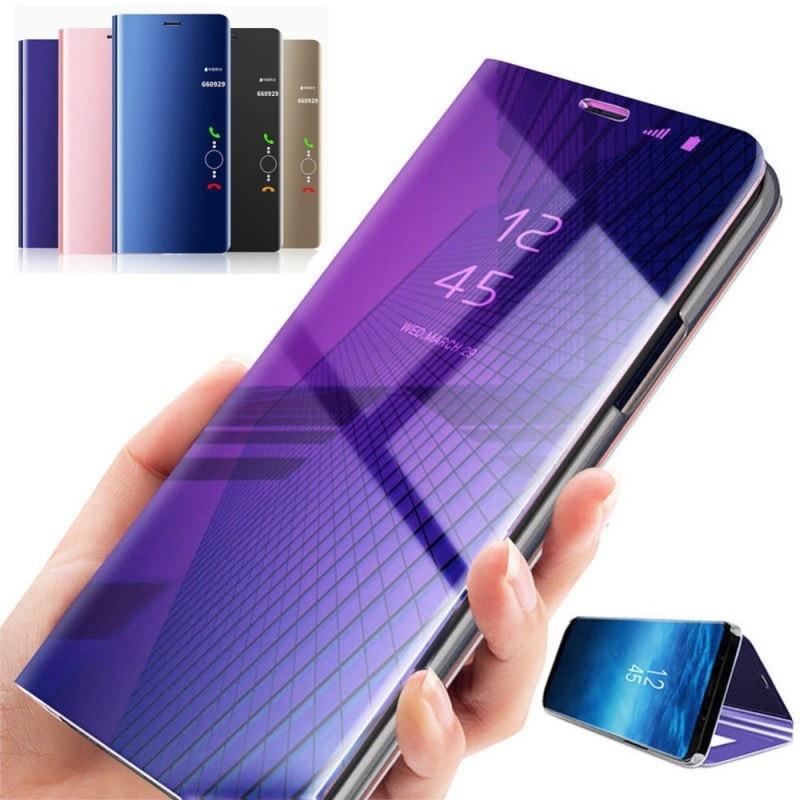 2019 Nieuwe Stijl Smart Sleep Case Voor Huawei Y5 Y6 Y7 Prime Pro 2018 Y9 2019 Luxe Spiegel Lederen Case Voor Huawei Honor 8 S 20i Holster Cover