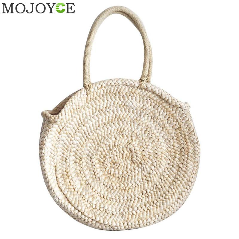 Luggage & Bags Shoulder Bags 2018 New Women Bag Womens Handbags Hand Woven Corn Skin Round Straw Bag Holiday Beach Bag Shoulder Bag Female