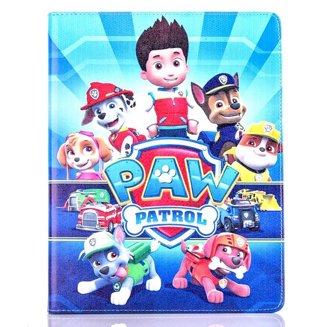 Tablet Case For Apple Ipad Mini 4 Fashional PAW PATROL Prints PU Leather  Protective Cover Stand