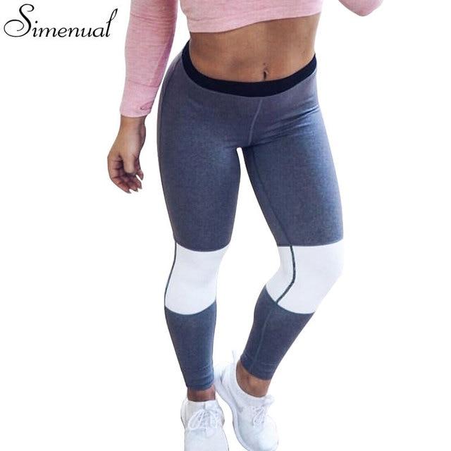 Горячие продажи 2016 athleisure лоскутные леггинсы для женщин мода тонкий push up фитнес леггинсы длинные брюки женские одежды jeggings