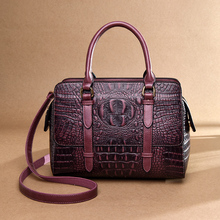 Vintage Women's Genuine Leather Handbags Shoulder Bag Crocodile Pattern Luxury Handbags Women Bags Designer Totes Bags for Women