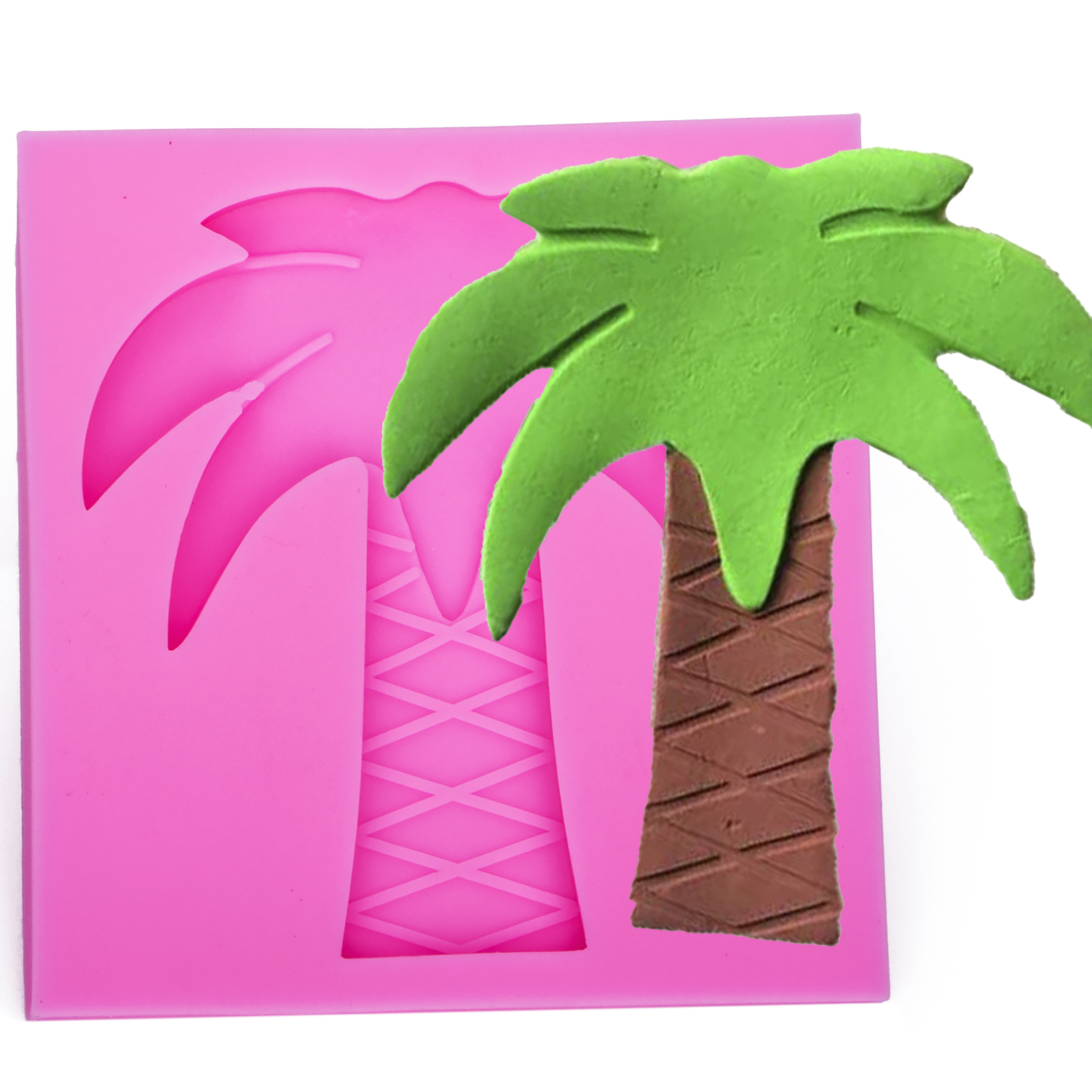3D Reverse sugar molding silicone mold coconut tree shaped for polymer clay molds pastry candy fondant cake decoration tool 1192