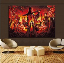 Movie Hellboy Keyar Poster Modern Canvas HD Printing Type Artwork 1 Piece Style Painting Living Room Wall Home Decorative