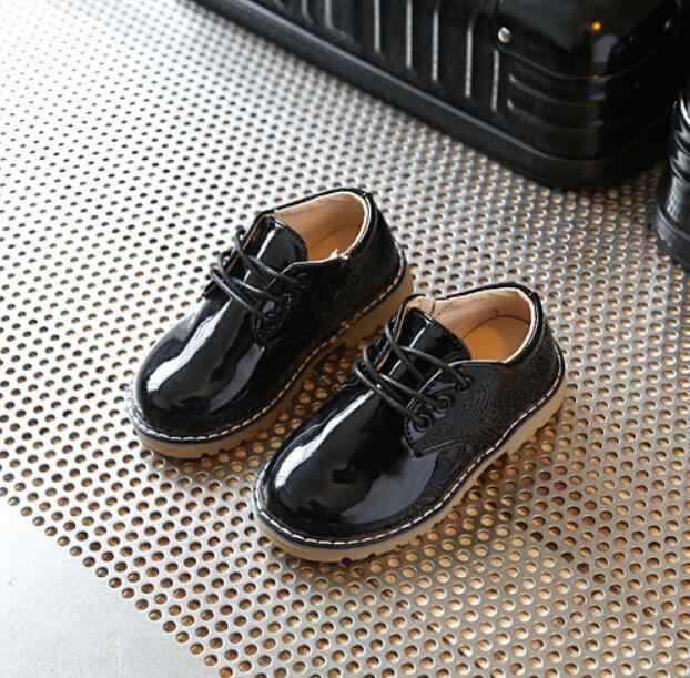 2019 Bahar Çocuk rahat ayakkabılar Çocuk Deri spor ayakkabılar Erkek Kadın Çocuk Moda Vintage Deri Martin Çizmeler Bebek Ayakkabı