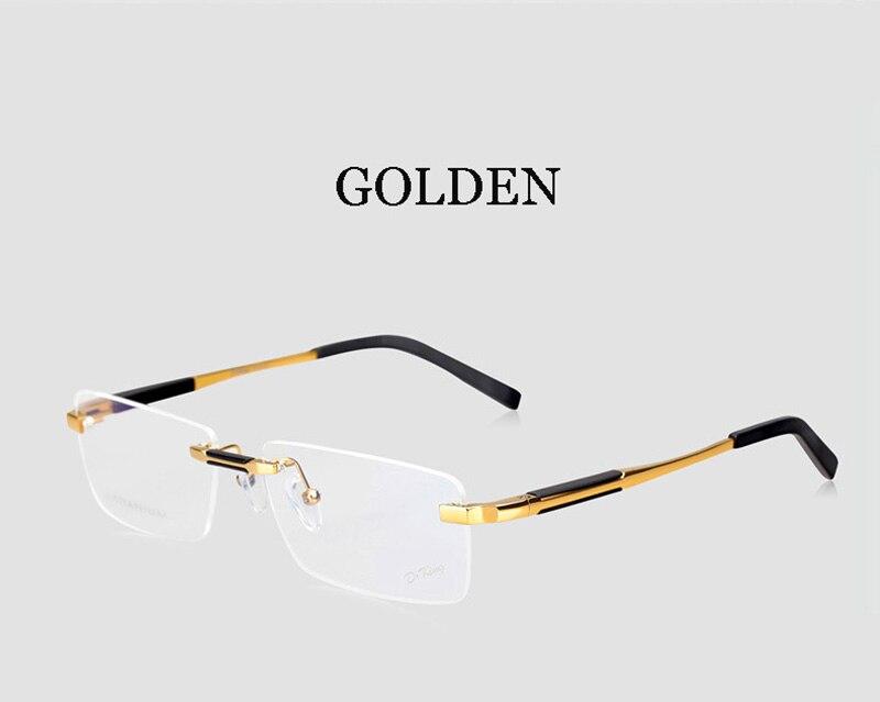 3c528334ddb Business man fashion eye glasses gold frame man rimless eye glass optical prescription  man eye glass gold frame-in Eyewear Frames from Apparel Accessories ...