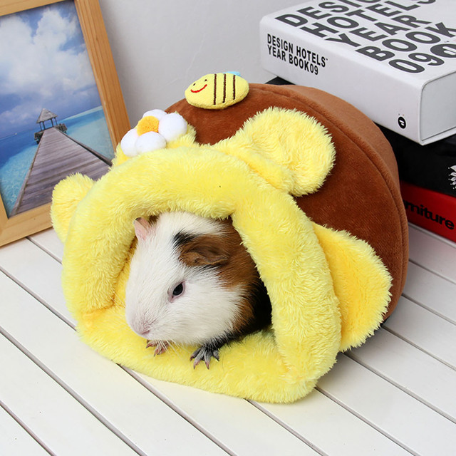 Pet Hamster Soft Warm Nest Kennel Bed Cave House Sleeping Bag Mat Pad Tent hamster guinea pig accessories Warm house Dropship