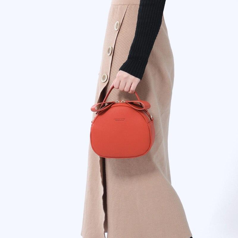 Image 3 - NEW Geometrical Circular Women Shoulder Bag Leather Women's Crossbody Messenger Bags Sac Female Round Bolsa Ladies Handbag Girls-in Shoulder Bags from Luggage & Bags