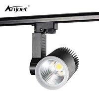 Anjoet 7 Вт 15 Вт 20 Вт 30 Вт вел Регулируемые светильники Алюминий железнодорожных лампа светодиодов прожекторы Iluminacao для Костюмы эксклюзивный м...