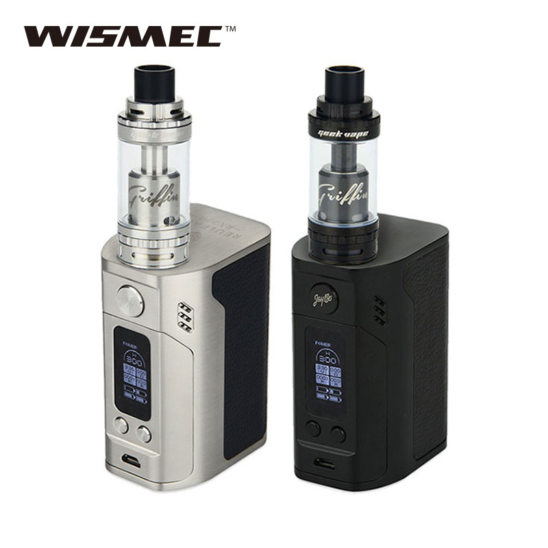 Original WISMEC Reuleaux RX300 TC Mod 300W Vaping for Griffin 25 RTA Top Airflow 6ml Atomizer Vs Only RX 300 Box Mod termica ah 6 300 tc