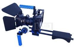 Studio Accessories DSLR Rig Shoulder stand + Camera handheld case + Lens hood + Follow focus for 5D Mark III 5DII 5D4 80D 70D 7D