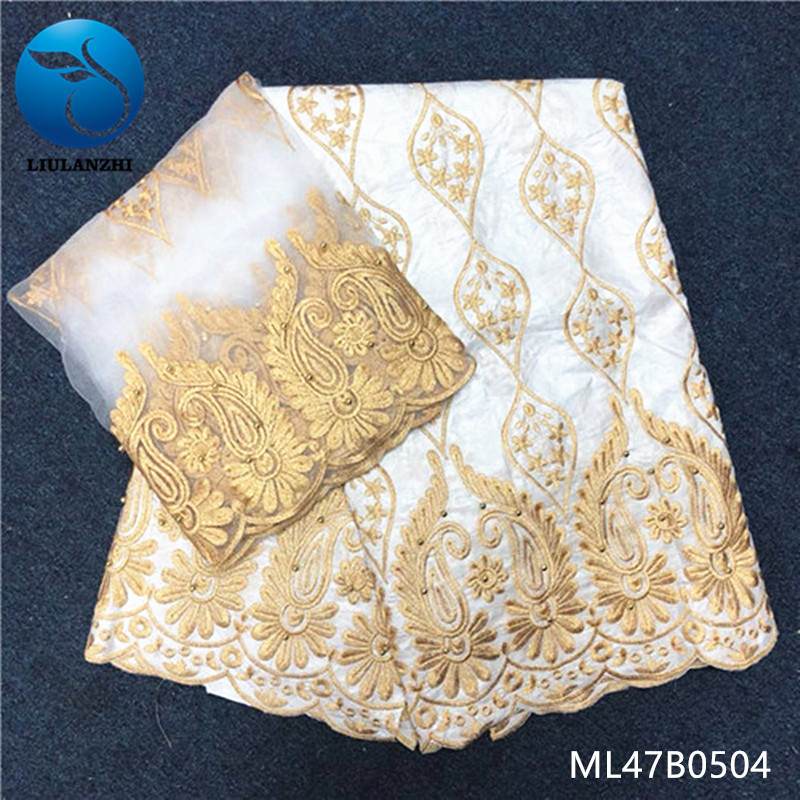 LIULANZHI bazin riche getzner white 5yards cotton fabric 2019 style hot sales with 2yards mesh laces fabrics for dress ML47B05LIULANZHI bazin riche getzner white 5yards cotton fabric 2019 style hot sales with 2yards mesh laces fabrics for dress ML47B05