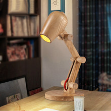 Simple wooden desk lamp reading lamp bedroom studio study the learning individuality creative desk lamp that shield an eye(China)